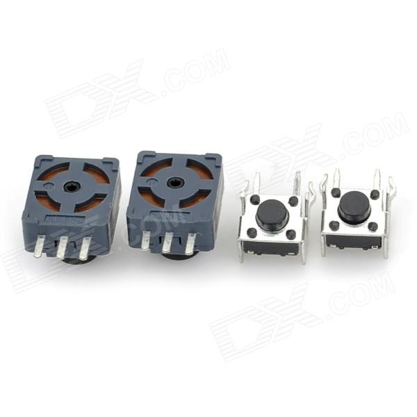 Replacement LB/RB + LT/RT Buttons Set for XBOX360 Wireless Controller - Black + Silver