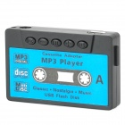 Retro Cassette Shape Mini USB Rechargeable MP3 Player w/ TF Card Slot - Black + Blue (16GB)