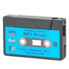 Cassette Shape Rechargeable MP3 Player w/ TF - Black + Blue (16GB)