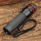 LWJ-100 60lm 3-Mode Neutral White Light Zooming Flashlight - Black + Red (1 x AA / 1 x 14500)