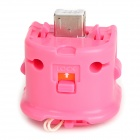 GOiGAME Plastic Wii Remote MotionPlus - Pink