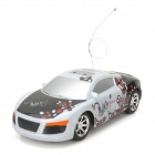 ZhenCheng 333-S032A 1:22 2-CH R/C Car Toy w/ Remote Controller - White + Black