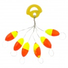 6-in-1 Fishing Float Floater Bobber - Orange + Yellow