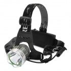 LWJ-3Y19 Cree XM-L T6 500~950lm 3-Mode White Crown Head Headlamp - Silver (1/2 x 18650)