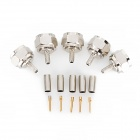 F-75J-C 75ohm Coaxial Female Connectors Plugs - Silver + Golden (5 PCS)