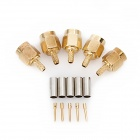 SMA-J-1.5 Coaxial Connector Adapter - Golden + Silver (5 PCS)