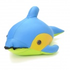 Cute Spandex Fabric + Foam Particles Dolphin Doll / Toy - Blue + Yellow + Green