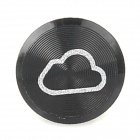 Decorated iCloud Pattern Aluminum Home Button Sticker for Iphone - Black