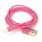 Lightning 8-Pin Male to USB Male Data Charging Cable for iPhone 5 / iPad 4 - Peach Blossom (1m)