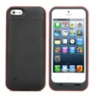 Mopower 5V 2200mAh External Emergency Li-ion Battery Back Case for iPhone 5 - Black + Red