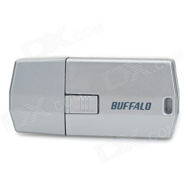 BUFFALO USB 2.0 Dual Micro SD / TF Card Reader - Silver Grey 2 in 1 usb and micro usb otg tf sd card reader white