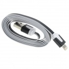 USB Stecker an Apple 8 Pin Blitz Male Datenkabel + Ladekabel für iPhone 5 - White + Black (100cm)