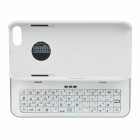 Bluetooth v3.0 50-Key Keyboard + Side Slip Back Case w/ Stand for Iphone 5 - White