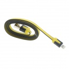 USB Male to Apple 8 Pin Lightning Male Data + Charging Cable for iPhone 5 - Yellow + Black (100cm)