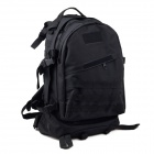 3D Tactical Outdoor Double Shoulder Backpack Knapsack Bag - Black