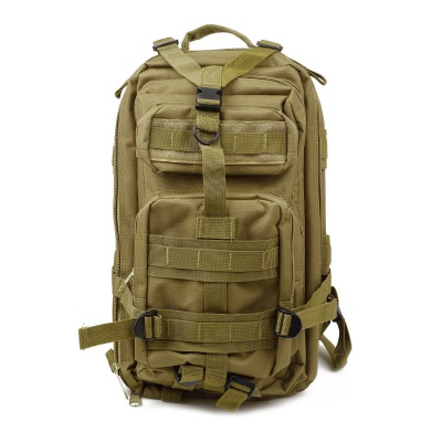 3P Tactical Outdoor Double Shoulder Backpack laukku-Khaki