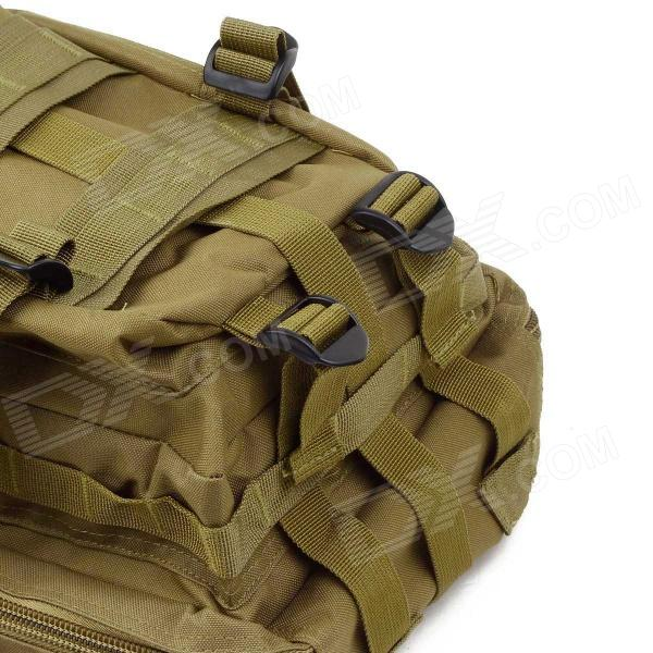 3P Tactical Outdoor Double Shoulder Backpack Bag - Light Army Green