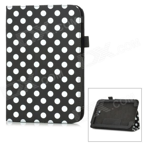 Polka Dot Style Protective PU Leather Case for Samsung N5100 Galaxy Note 8.0 - Black + White