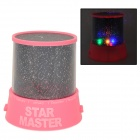 Super Bright 4-LED Interchanging Color Star Master Projector Lamp - Pink + Black (3 x AA)