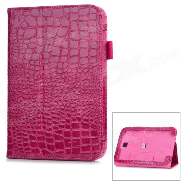 Alligator Pattern Protective PU Leather Case for Samsung N5100 Galaxy Note 8.0 - Deep Pink alligator pattern protective flip open pu leather case for samsung galaxy note 3 n9000 white
