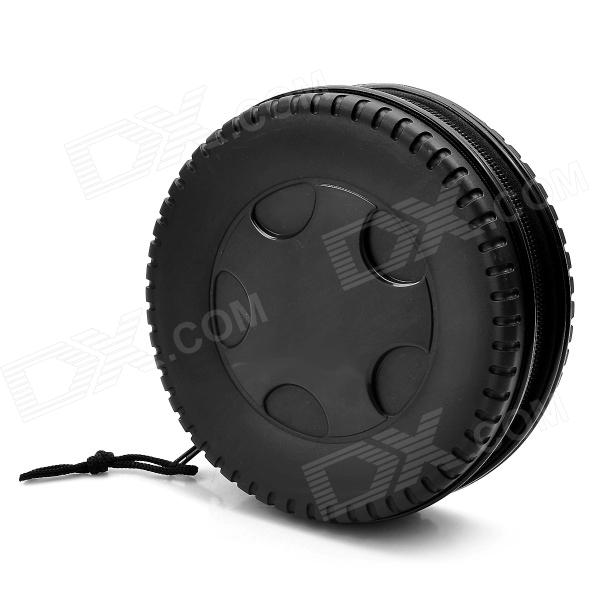 Wheel Shape Protective ABS CD / DVD Storage Case - Black