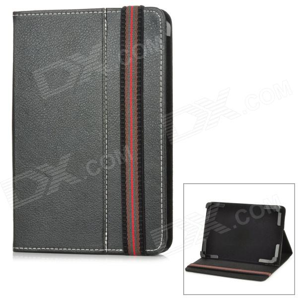 """Protective PU Leather + Plastic Case for 7"""" Tablet PC - Black"""