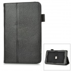 "Lychee Pattern Protective PU Leather Case for Asus 172V 7"" - Black"