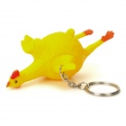 Kreative Legehenne Unhappy Druck Releasing Toy Keychain - Yellow