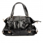 JUST STAR 170600-01 Waterproof PU Shoulder Bag / Handbag for Women - Black