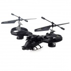 YD-718 Rechargeable 4-CH IR Remote Control R/C Helicopter Set - Black