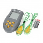 "HS6802 1.8"" LCD Dual-Channel Digital Thermometer - BDeep Grey + Yellow (-50~1350'C / 2 x AAA)"