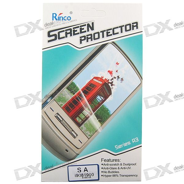 Rinco LCD Screen Protector for Samsung i908/i900 Cell Phones