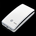 5V 14000mAh Dual USB Portable External Power Battery Bank w/ Flashlight - White + Silver