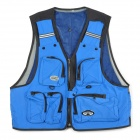 Multi-Function Nylon Mountaineering / Fishing / Photography Vest - Blue + Black (Size XXL)