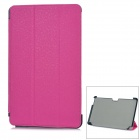 Protective PU Leather Case for Samsung XE500T1C-A01/2/3, XE700T01-A01/2 - Deep Pink