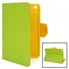 Stylish Protective PU Leather + Soft TPU Case for Ipad MINI - Green + Yellow