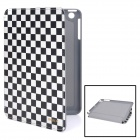 iMAX Checked Pattern Protective PU Leather Case for iPad Mini - Black + White
