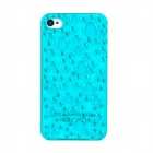 Water Droplet Style Protective Plastic Case for Iphone 4 / 4S - Transparent Blue
