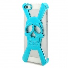 Skull Style Protective Electroplating Plastic Case for iPhone 5 - Blue
