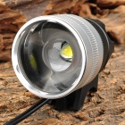 UltraFire cree XM-L T6 600lm 3-Mode Zooming Flashlight - Black + Silver (4 x 18650)