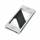 Protective Aluminum Alloy Flip-Open Case for Iphone 5 - Silver