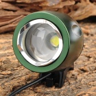 Cree XM-L T6 1-LED 200LM 3-Mode White Bike Light Helmet HeadLight - Deep Green + Black
