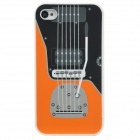 Guitar Style Protective Silicone Case for Iphone 4 / 4S - White + Black + Grey + Orange