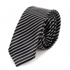 Streifenmuster Spinning Tie for Man - Black
