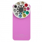 Protective Plastic Back Case w/ Special Wheel Style on Back for Iphone 5 - Deep Pink