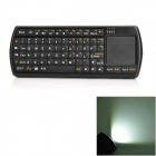 3-in-1 2.4GHz Wireless 71-Key Keyboard + Touchpad + Flashlight w/ USB Receiver - Black