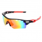 OREKA WG565 Sports Riding UV400 Protection Sunglasses - Black + Red