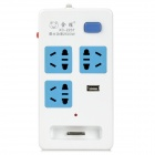 2500W Apple 30Pin Dock + AU Plug + USB Adapter Converter Charger for iPhone - White + Blue + Grey