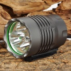 LZZ-CREE XP-G-R5 3 x Cree XP-G R5 400lm 3-Mode White Bicycle Light Headlamp - Grey (4 x 18650)