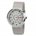 NBW0FA6581 Women's Resin Dial Stainless Steel Band Quartz Analog Wrist Watch - Silver